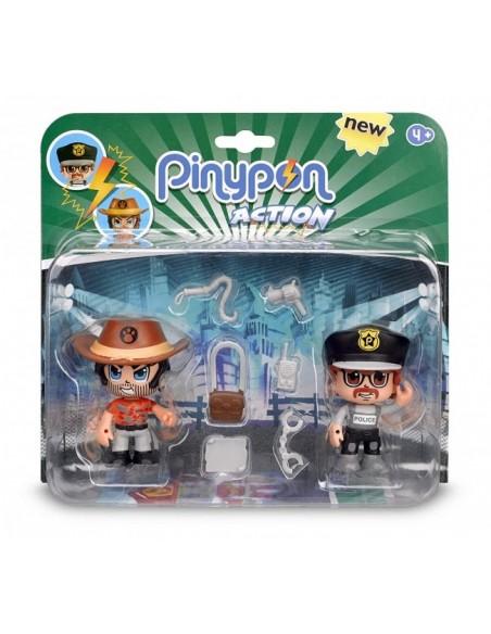 FIGURAS PIN Y PON ACTION , PACK DE 2 FIGURAS , ref 14492